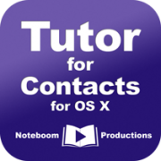 Tutor for Contacts for OS X