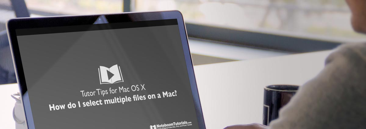 Select multiple files on a mac