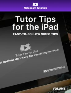 Tutor Tips for the iPad iBook