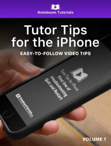 Tutor tips for the iPhone iBook