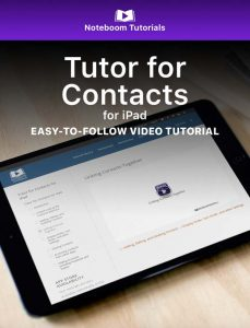 Tutor for Contacts for iPad iBook