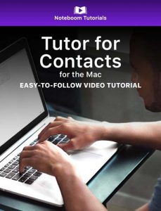 Tutor for Contacts for Mac iBook