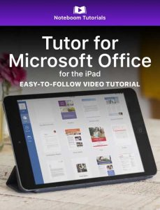 Tutor for Microsoft Office for iPad iBook