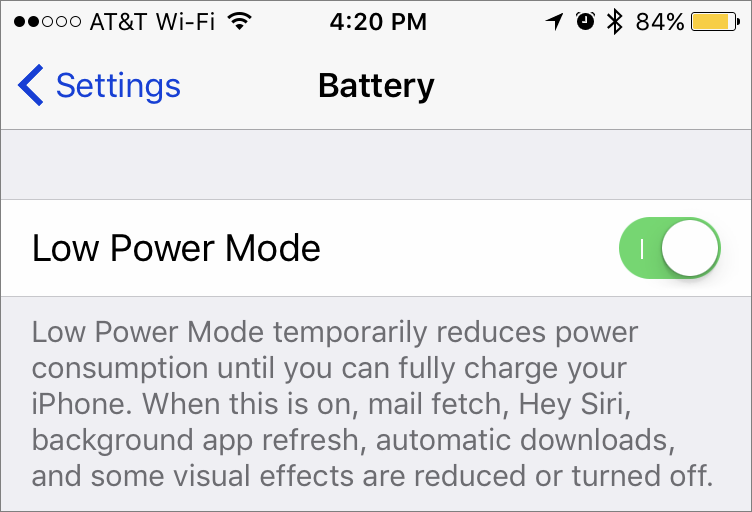Quick Tip-Low-Power-Mode