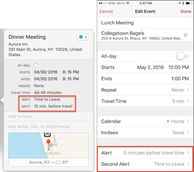 Add Alerts based on Travel Time into Your Calendar Alerts - Noteboom