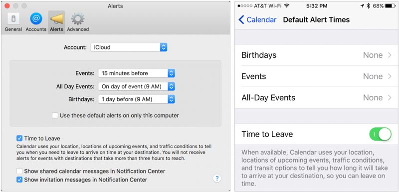Tip: Calendar alerts with traffic