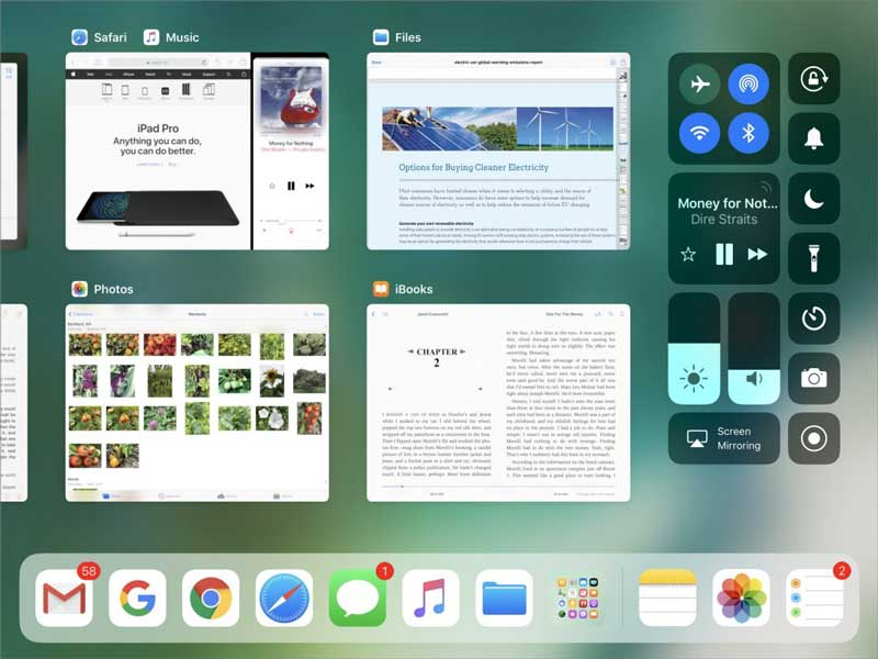 iOS11 iPad App Switcher