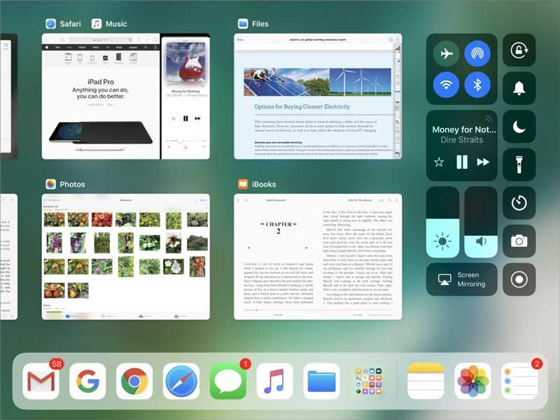 iOS11 iPad App Switcher