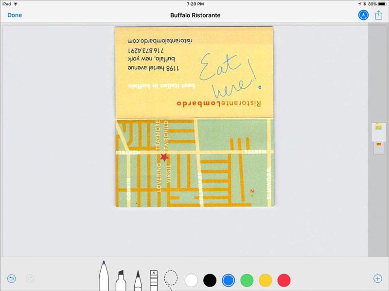 iOS11 iPad Instant Notes