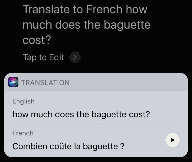 Siri-translations