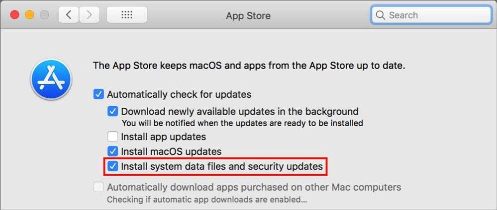 App Store prefs XProtect