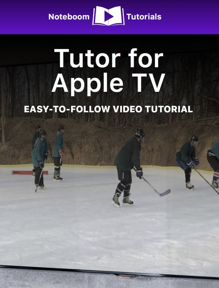 Tutor for Apple TV iBook