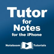 Tutor for Notes for the iPhone