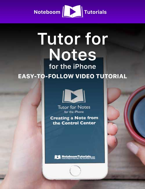 Tutor for Notes for iPad