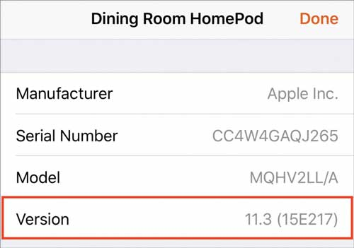 Which OS HomePod