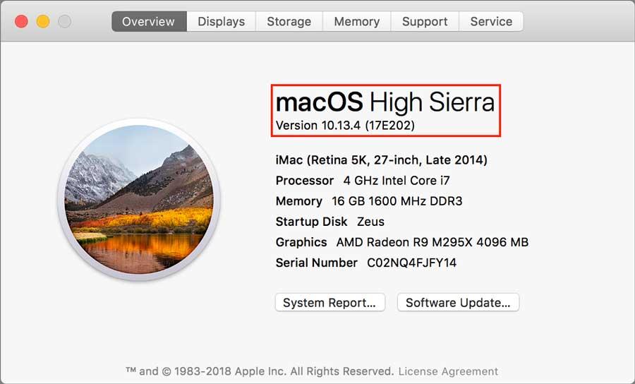 Which OS Mac