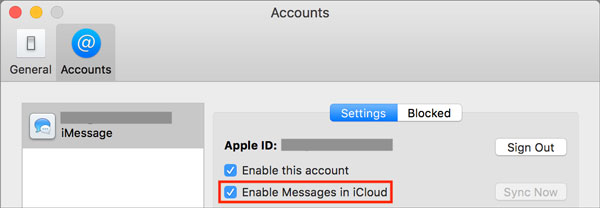Messages iCloud Mac