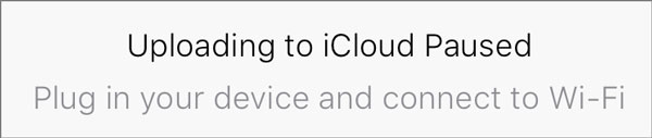 Messages iCloud paused