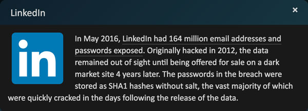 Pwned LinkedIn breach