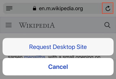 Desktop site Wikipedia