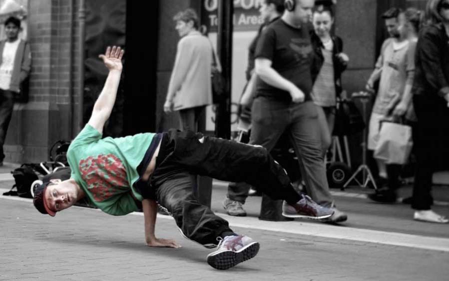 Trackpad Tricks break dancer photo
