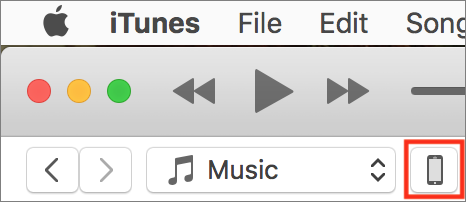 ITunes device button