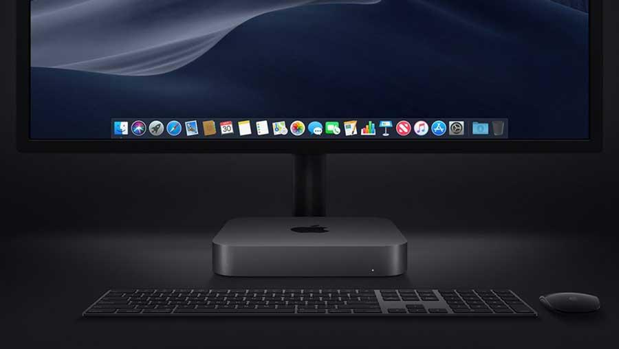Mac mini desktop setup display