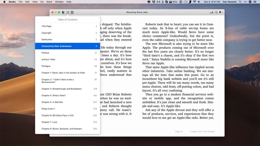Books app mac