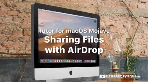 Sharing Files using AirDrop on your Mac - Noteboom Tutorials