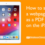 Learn how to save a webpage as a PDF on the iPad.