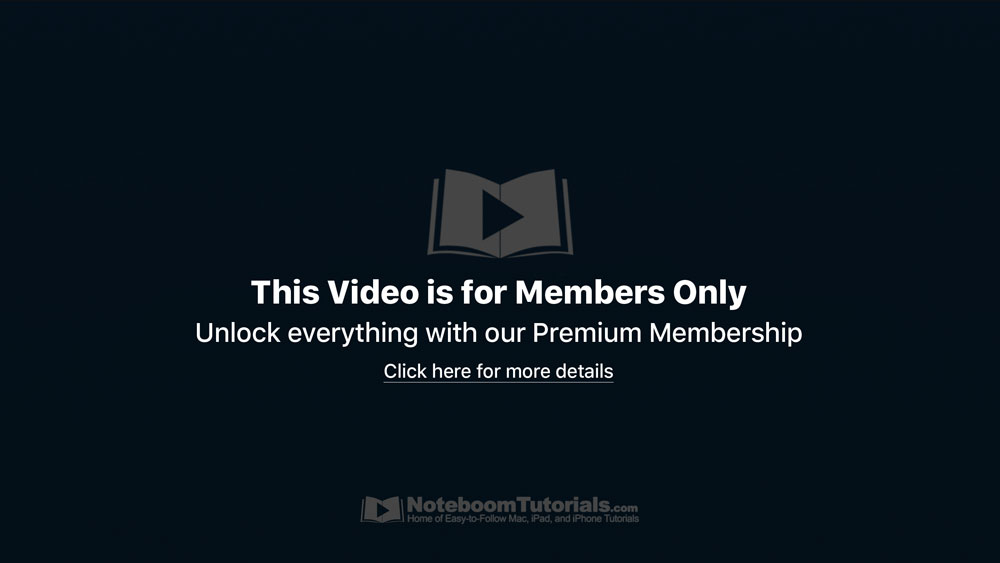 Video is for Members Only