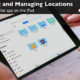Learn to browse and manage locations in the Files app on the iPad.