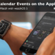 Learn about the Calendar app on the Apple Watch.