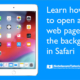 Learn how to open a link in the background in Safari on the iPad.