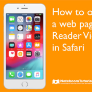 Learn how to open a web page in Reader View in Safari.