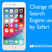 Change the Search Engine Safari uses on the iPhone.