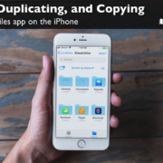 Learn how to movie, duplicate, and copy files and folders in the Files app on the iPhone.