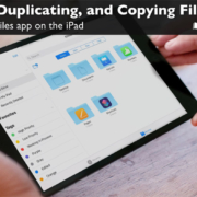 Learn how to move, duplicate, and copy files in the Files app on the iPad.