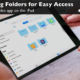 Learn how to favorite folders for easy access in the Files app on the iPad.