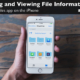 Renaming and Viewing File Info in the Files app on the iPhone