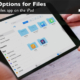 Learn how to share files with the Files app on the iPad