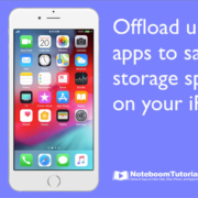 Offload Unused Apps on your iPhone