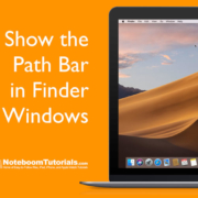 Learn how to show the Path Bar for a file or folder in a Finder window on the Mac.